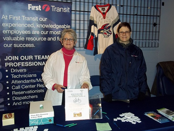 First Transit staff participate in Passenger Appreciation Night at the Elmira Jackals